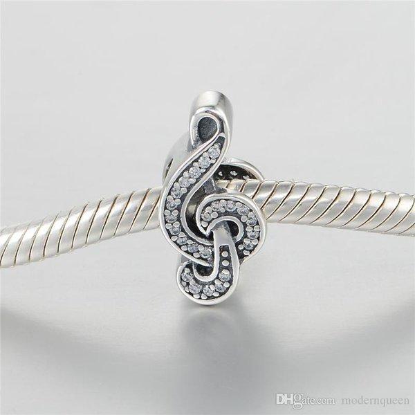 Musiknote europäischen Charme Perlen S925 Sterling Silber passt für Pandora Stil Charme Armbänder Freies Verschiffen aleCH638H9