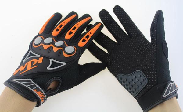 NUOVO sport professionale completo dito guanti moto in pelle KTM guantes moto ciclismo guanti da motocross guanti ciclismo ktm racing guanti