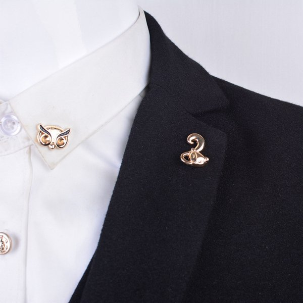 Mini animal small fox Top grade corsage brooch men and women suit shirt collar pin jewelry factory direct