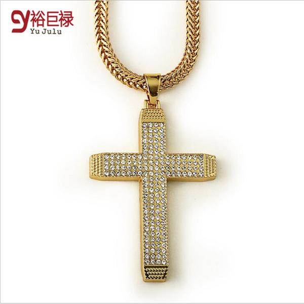 Grosshandel 2016 Neue Manner Jesus Kreuz Halskette Kreuz Anhanger