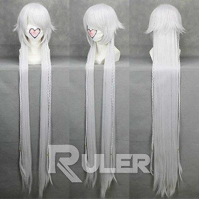 Wholesale free shipping >>>>135CM Anime Pandora Hearts Alice White Cosplay Wig COS-167A