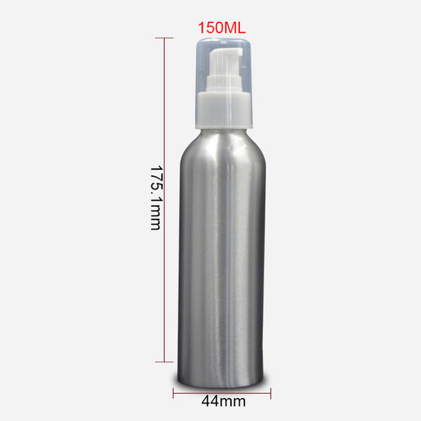 150ml Aluminum Pump Lotion Bottle Travel Empty Cosmetic Packaging Bottle Personal Care Makeup Containers 20pcs/lot FZ135