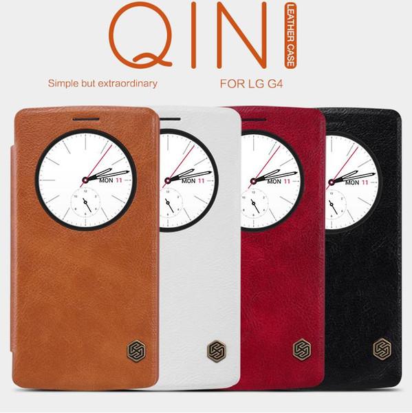 Al por mayor-original Nillkin para LG G4 Quick Circle Funda para LG G4 H810 H815 VS999 F500 H818 LS991 cubierta de cuero del tirón Sleep Wake teléfono Shell