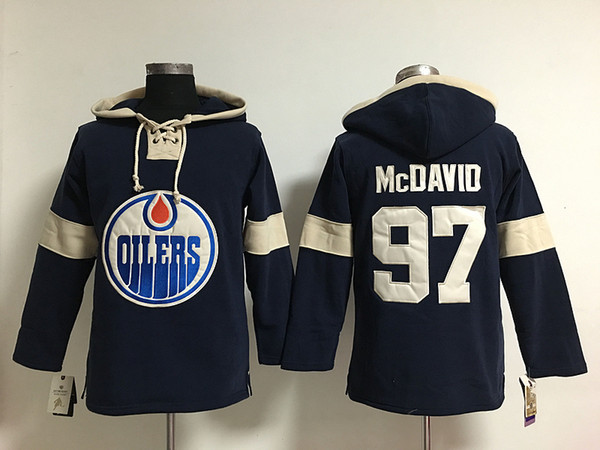 Youth Hockey Jersey Cheap, Edmonton Hoodie #99 Wayne Gretzky Stitched Embroidery Logos Hoodies Sweatshirts Any Name and Any Number