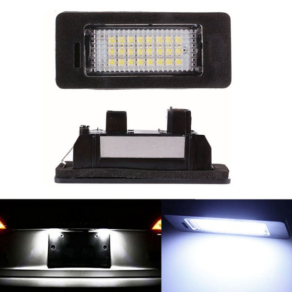 2pcs 18 LED Error Free Car License Number Plate Light Lamp Bulbs Fit For BMW E90 M3 E92 E70 E39 F30 E60 E93 E82 E88 F20 F21