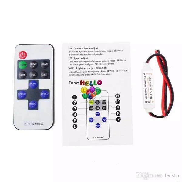 RF Single Colors Dimmer 17 Keys