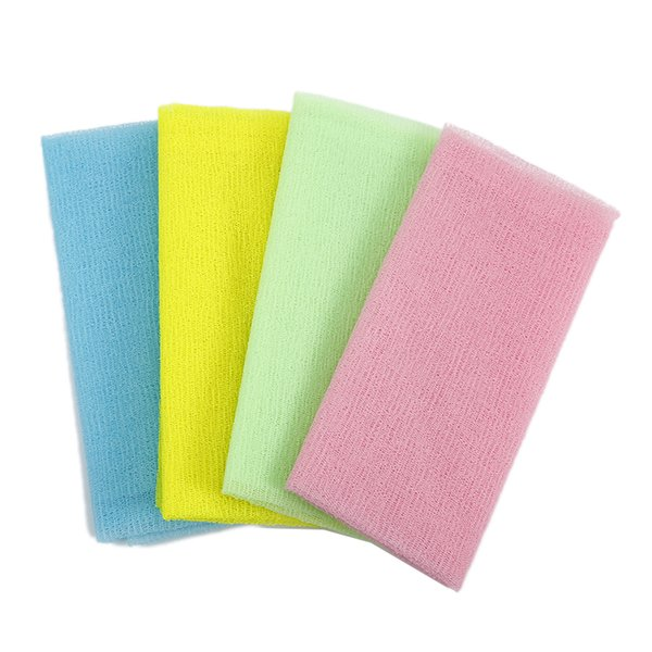 5pcs/lot Nylon Japanese Exfoliating Beauty Skin Bath Shower Wash Cloth Towel Back Scrub Body Cleaning Washing Sponges& Scrubbers