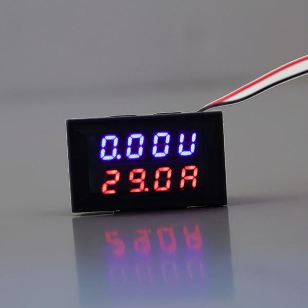 Wholesale-1pc Red Blue LED DC 0-100V 10A Dual Display Voltage Meter Digital LED Voltmeter Ammeter Panel Amp Volt Gauge Hot Worldwide