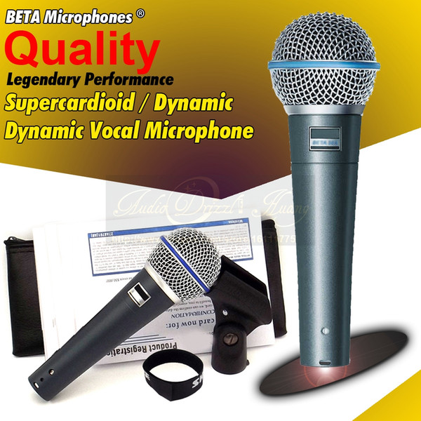 Free Shipping Quality Professional Metal Beta58A Super Cardioid Dynamic Vocal Wired Microphone Karaoke Beta-58A Mike Singing Mic