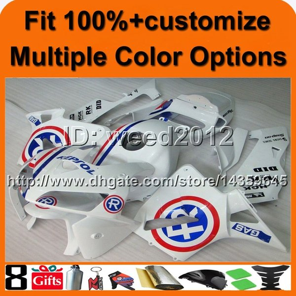 23colors+8Gifts Injection mold white motorcycle cowl for HONDA CBR600RR 2005-2006 CBR600RR 05 06 ABS Plastic Fairing aftermarket