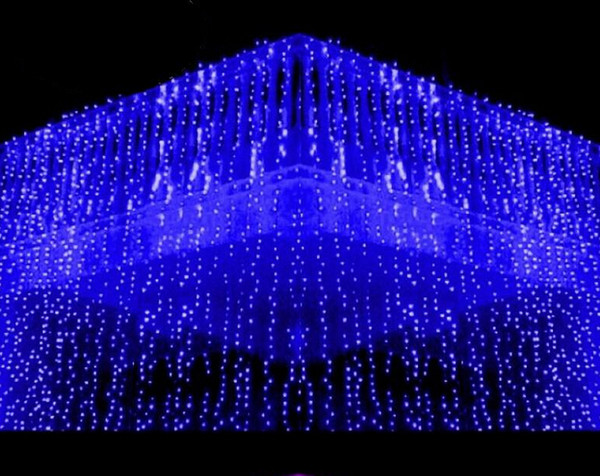 10x1.5 M mètre Weding 488LED Rideau Lumières De Vacances leds Jardin De Noël Décoration Parti Flash Fée Rideau Chaîne Lumière Livraison Gratuite