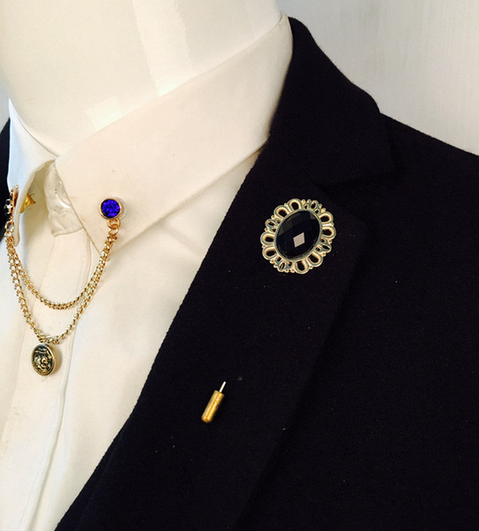 Korean version of the simple oval high-grade crystal brooch wild female fashion diamond jewelry brooch pin collar pin