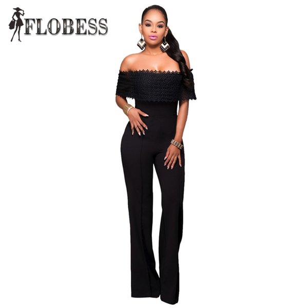 cf961426c188 plus size white bodycon jumpsuit Coupons - Wholesale- New 2016 Summer Sexy  Bodycon Flouncing Off