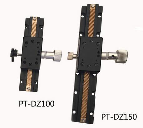 Fase linear manual da linha central de PT-DZ100 / 150 Z, estação da linha central de Z, laboratório manual Jack, plataforma manual, tabela deslizante ótica