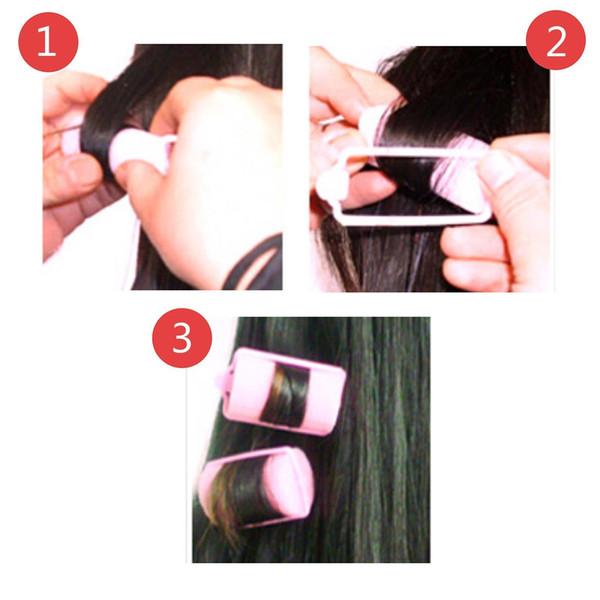 12 unids Portátil clásico Magic Sponge Foam Rollers Girl Rizadores de pelo necesario caliente # R671