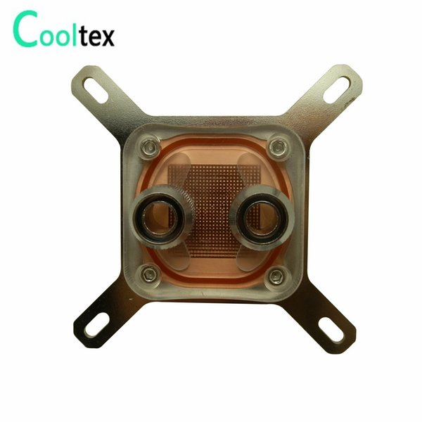 Wholesale- 100%New CPU Water Block Water Cooling Cooler Computer For Intel LGA775/1155/1156/1150/1366 With Mounting Screws Recommend!
