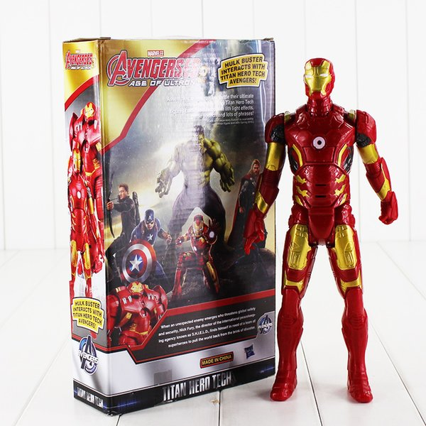 29cm Super Heros Iron Man Tony Stark PVC Action Figure Collectable Model toy for kids Christmas gift free shipping EMS