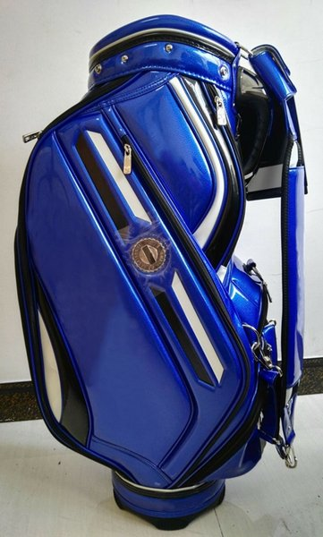 "top popular golf bag 2016 new style Ti 610 limited edition PU Golf Bags 9"" in blue 2019"