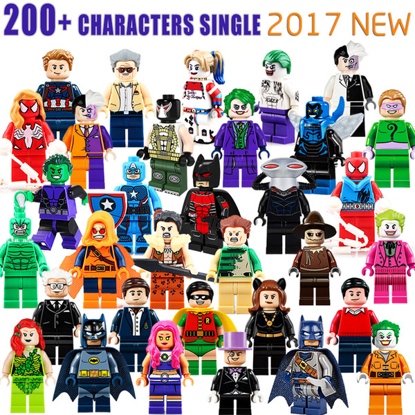 wholesale 600+ Building Blocks Super Hero Figures Toys The Avengers Toys Joker Toys mini Action Figures Bricks minifig Christmas gifts