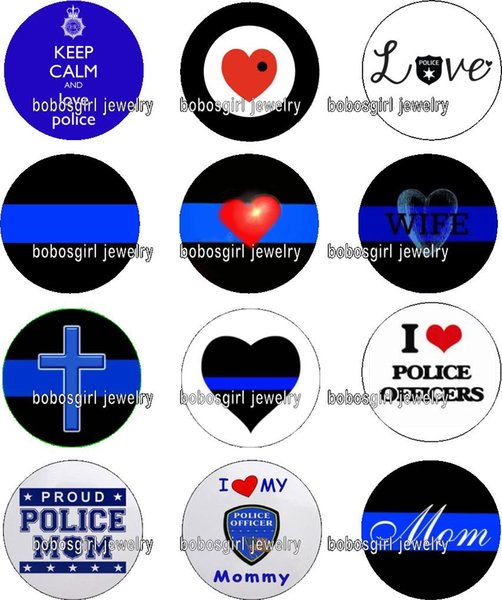 Free shipping LOVE POLICE glass Snap button Charm Popper for Snap Jewelry good quality 12pcs / lot Gl383 jewelry making
