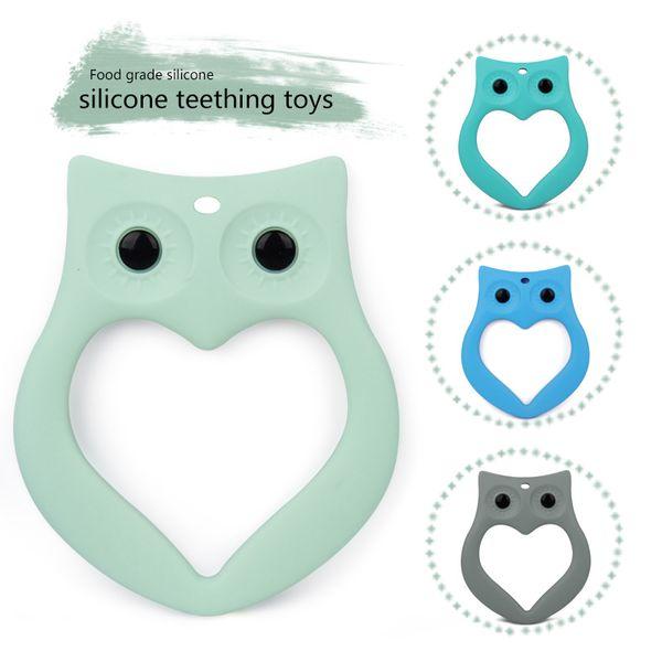 Baby Eule Silikon Schnuller Anhänger Säugling Tier Kauen Spielzeug Säugling Beißring niedliche Eule Design Geschenk 6 Farben