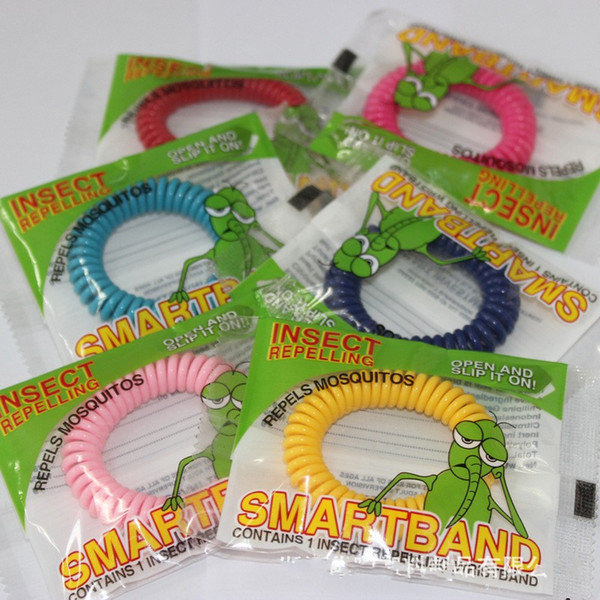best selling New Mosquito Repellent Bracelet Stretchable Elastic Coil Spiral hand Wrist Band telephone Ring Chain Anti-mosquito bracelet