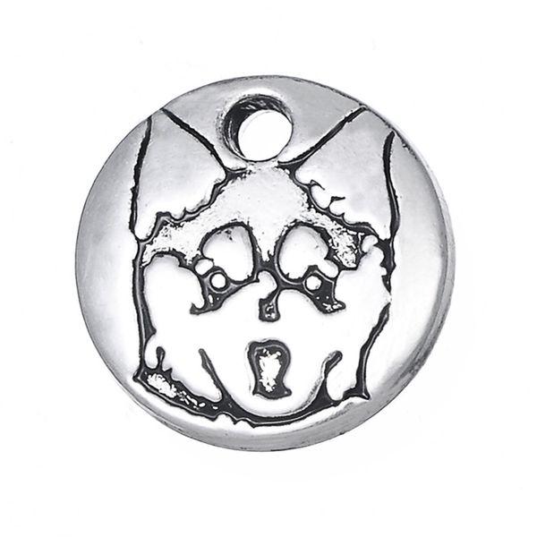 Free shipping 12*12mm Small Size Cute Alaskan Klee Kai Charm & Pendant for Bracelet Dog Animal Jewelry Wholesale 10pcs jewelry making
