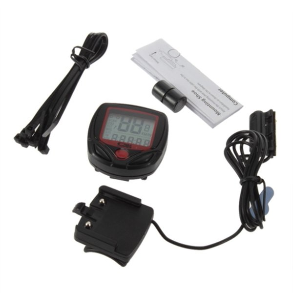 Hot Sales Cycling Computer Leisure 14-Functions Waterproof Odometer Speedometer With LCD Display Bike Speedometer Bicycle Cycling Computer