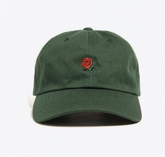 2016 New Exclusive customized design 6 panel cap Rare Rose Strap Back Cap men women Adjustable polos snapback caps baseball hats