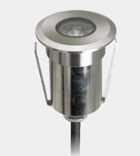 Stainless Steel LED Underground Lamps Outdoors Floor Light Waterproof 67 DC12V 42MM Diameter Round LED Garden Light Stairs Steps Light 10pcs
