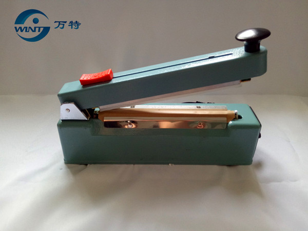 Free shipping,Good quality ,200MM hand impulse sealer with cutter handheld heat impulse sealer Manual sealing machine Aluminum body