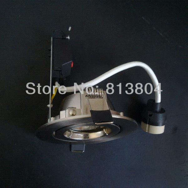 Freeship Teto luz do ponto de alumínio corpo duplo anel sem fonte de luz / Rotação Única / GU10 soquete da lâmpada de Prata Cor cobrir