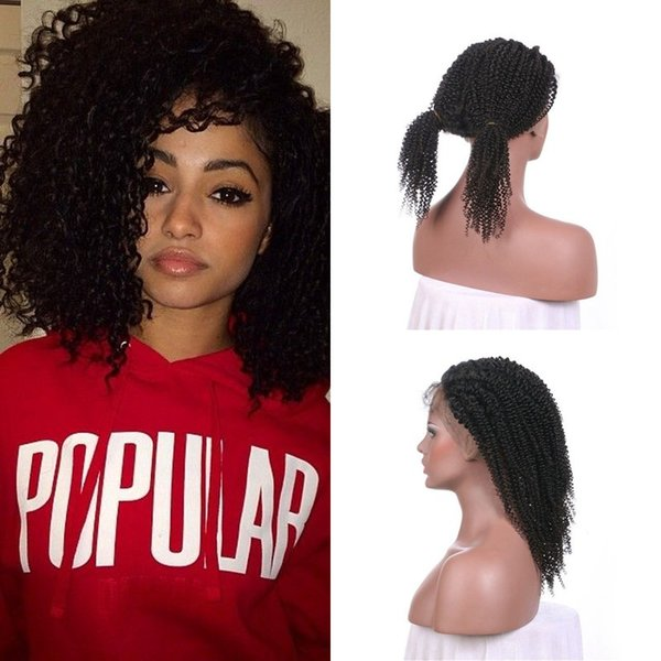 Pre Plucked Virgin Hair Full Lace Wigs With Natural Hairline Cheap Peruvian Hair Afro Kinky Culy Lace Wig FDSHINE HAIR