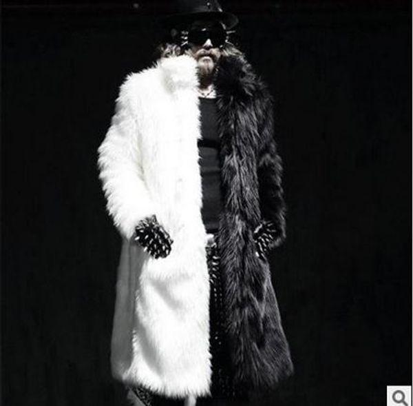 Queda-S / 5Xl Dos Homens de Inverno Casacos Longos de Pele De Raposa Casacos de Palha Casuais Casacos Masculinos Plus Size Outwears Roupas Jaqueta J1542