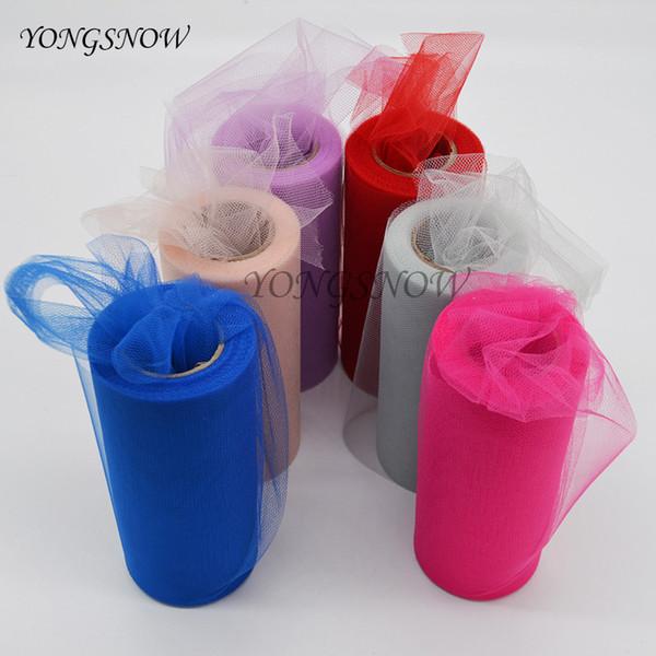 1Pcs 15CM * 25 Yards Colorful Tissue Tulle Paper Roll Spool Craft Wedding Party Decoration DIY Tutu Dress Festive Supplies 9Z