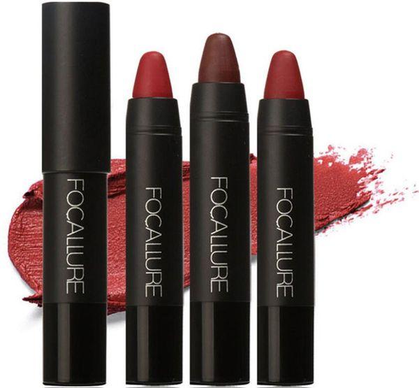 Focallure Marca Maquillaje Nuevo Sexy Nude Lápiz Labial Impermeable Lápices labiales Belleza Batom Velvet Mate Lip Stick Tattoo Rojo Lip Tint DHL FA22