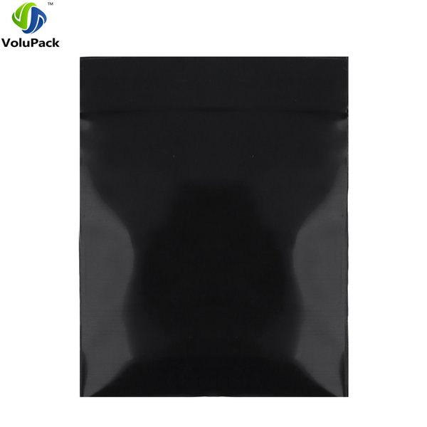 8x12cm(3.25x4.75in) 100pcs New Poly Ethylene Flat Pouch Heat Sealing Black Small Zip Lock Plastic Bags Herb Storage