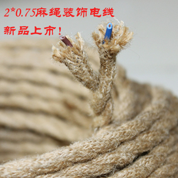 Wholesale-5 meter Vintage rope Twisted electric Wire Cable Retro ...