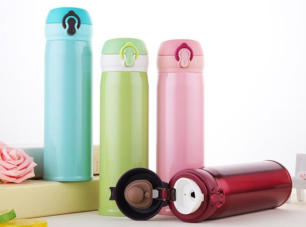 ff6d7f3f639 500ml 304 Stainless Steel Vacuum Cup Double Wall Insulated Thermos Cup  Coffee Mug Travel Drink Bottle