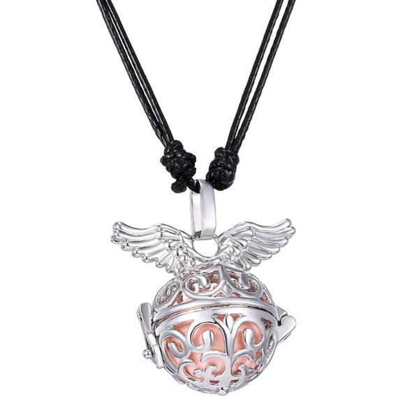 10 pcs / lot platine plaqué cuivre boule d'harmonie ange appelant pendentif pour les femmes enceintes mode médaillon flottant ange ailes pendentifs