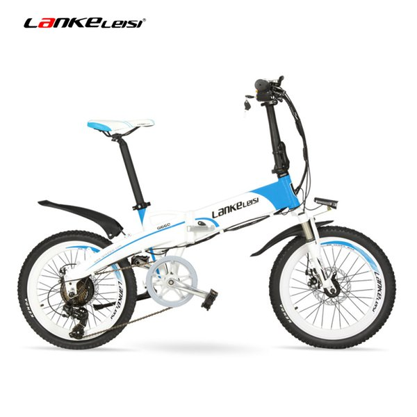 "top popular G660 48V 10Ah Hidden Battery 20"" Folding Electric Mountain Bike, 500W   240W Motor, Aluminum Alloy Frame, Suspension Fork 2020"