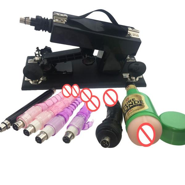 Geschlecht spielt für Frauen und Männer, Geschlechts-Produkte mit 7 Attachments Automatische Sex Machine Gun Set mit Vagina Cup, justierbare Geschwindigkeits-Pumping Gun