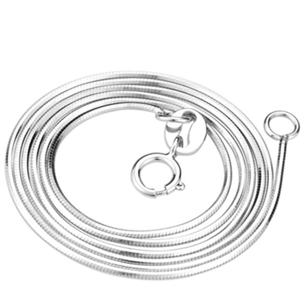 real 925 sterling silver jewelry 16 inch and 18 inches snake chain white gold plating and rose gold plated necklace