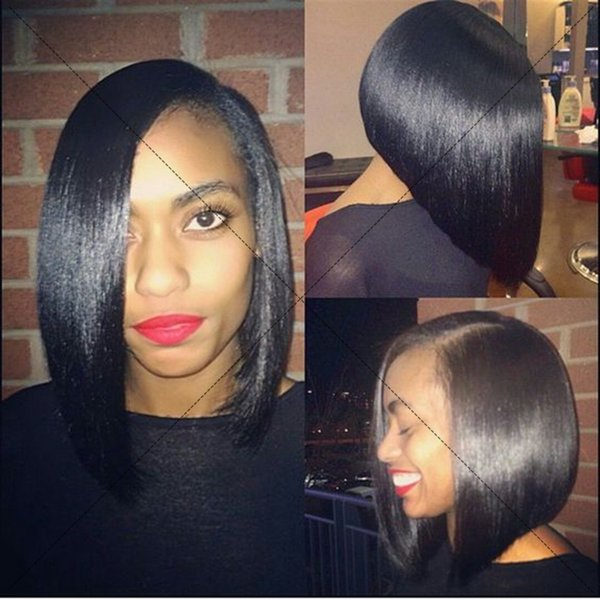 Indian Hair Lace Front Wigs Short Bob Human Hair Full Lace Wigs For Black Women Straight Hair Cut Bob Lace Wigs