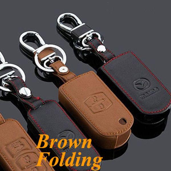 Brown 2 Button Fold