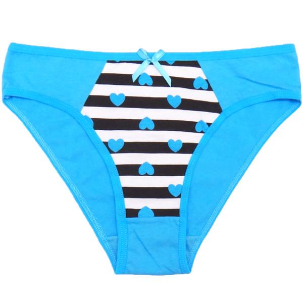 """Lot of 12 Cute Stripe Cotton Lady Panties Women ShortBrief Underwear Girl Pant Sexy Lingerie Size M L XL(""""22.04-25.2"""") Wholesale Underpants"""