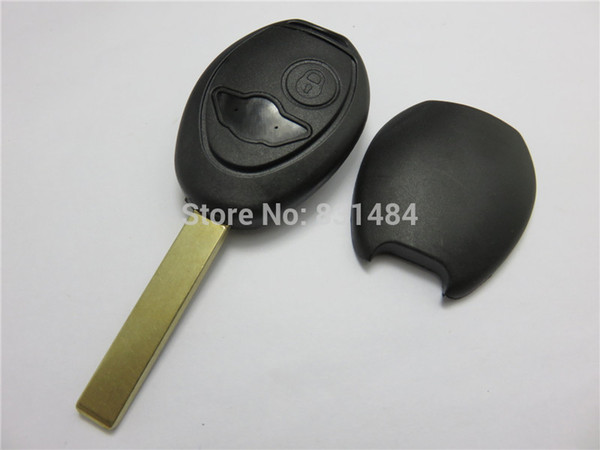 2 Buttons Uncut Blade Remote Car Key Case Shell Fob Key Cover For BMW Mini  Cooper R50 R53 Alarm Systems Security Car Key Replacement Cheap Car Key