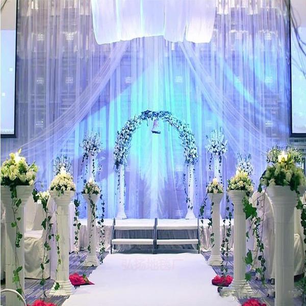 10m Per lot 1m Wide Shine White Nonwoven Carpet Aisle Runner For Wedding Party Backdrop Centerpieces Decorations Supplies