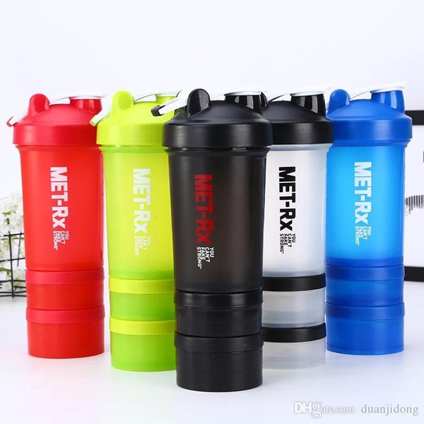 2017/ new creative protein powder/ milk shake/ fitness exercise/ shake cup handle/ three layer mixing cup/ plastic water cup