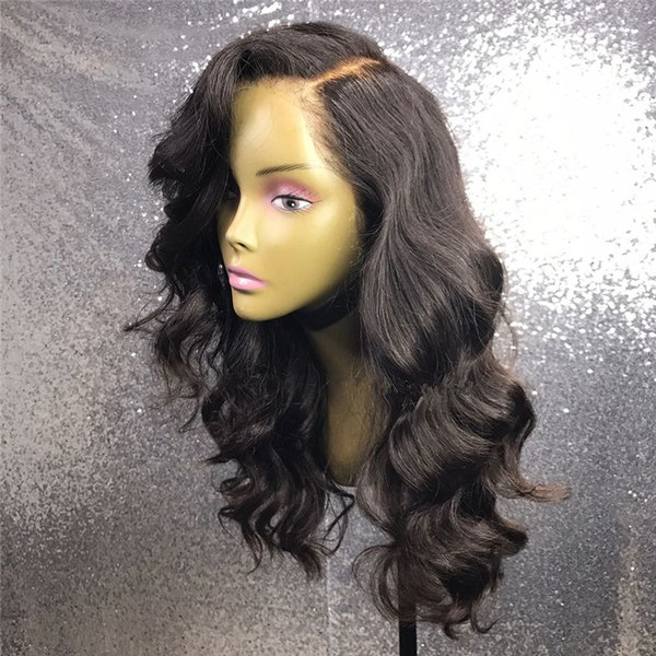 Full Lace Wigs Natural Color Body Wave For